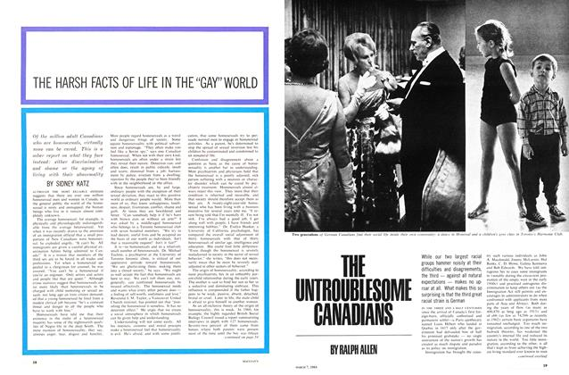 "Article Preview: THE HARSH FACTS OF LIFE IN THE ""GAY"" WORLD, March 1964 