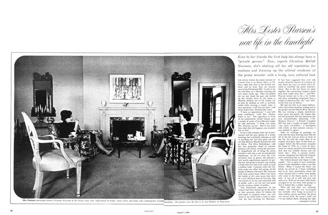 Article Preview: Mrs. Lester Person's new Life In The Limelight, March 1964 | Maclean's