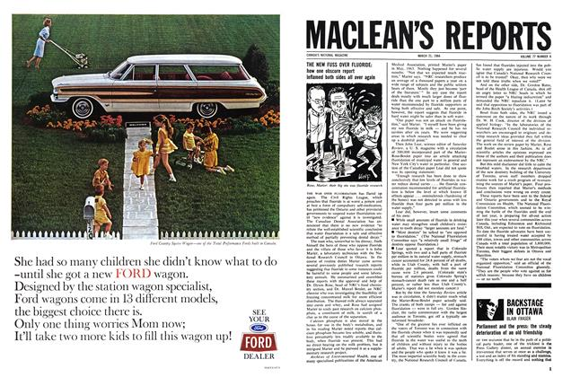 Article Preview: BACKSTAGE IN OTTAWA, March 1964 | Maclean's