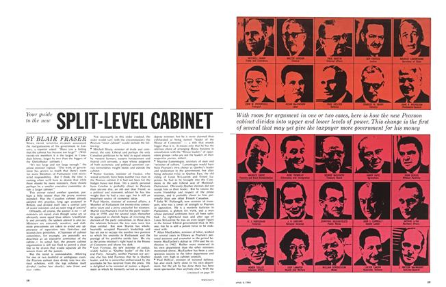 Article Preview: Your guide to the new SPLIT-LEVEL CABINET, April 1964 | Maclean's