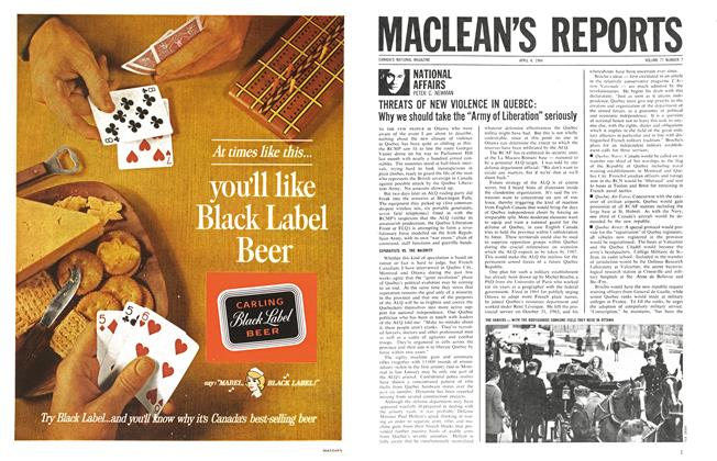 Article Preview: NATIONAL AFFAIRS, April 1964 | Maclean's