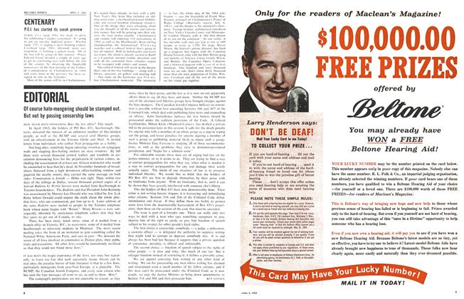 Article Preview: CENTENARY, April 1964   Maclean's