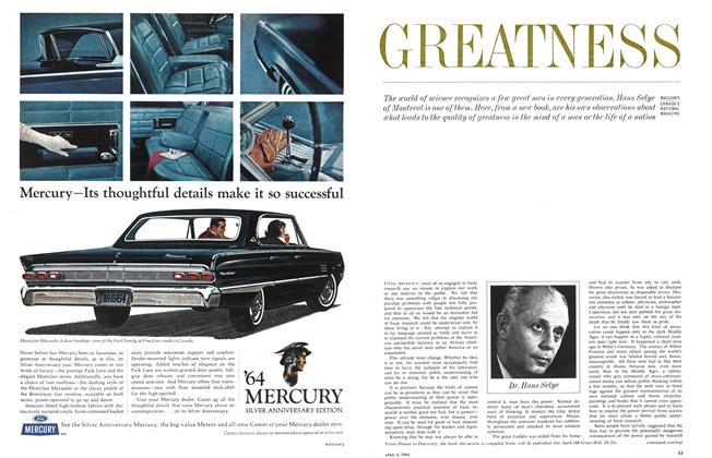Article Preview: GREATNESS, April 1964 | Maclean's