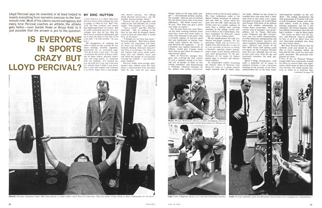 Article Preview: IS EVERYONE IN SPORTS CRAZY BUT LLOYD PERCIVAL?, April 1964 | Maclean's