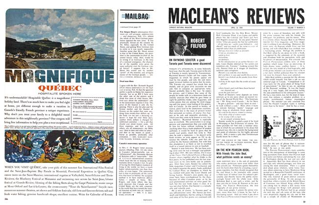 Article Preview: MACLEAN'S REVIEWS, April 1964 | Maclean's