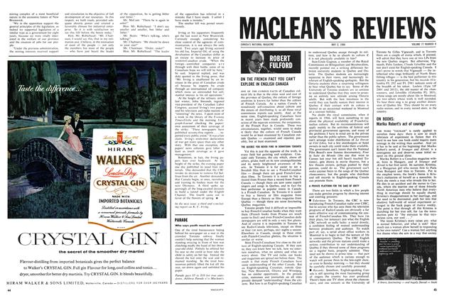 Article Preview: ON THE FRENCH FACT YOU CAN'T EXPLORE IN ENGLISH CANADA, May 1964 | Maclean's