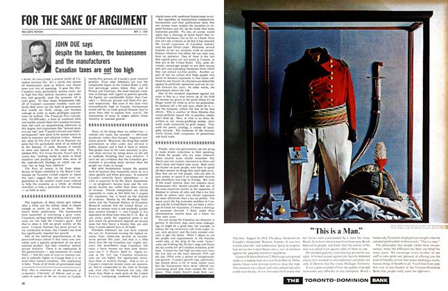 Article Preview: FOR THE SAKE OF ARGUMENT, May 1964 | Maclean's