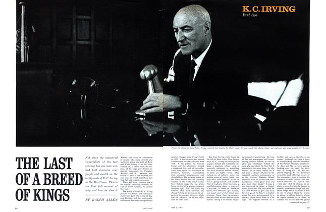 Article Preview: THE LAST OF A BREED OF KINGS, May 1964 | Maclean's