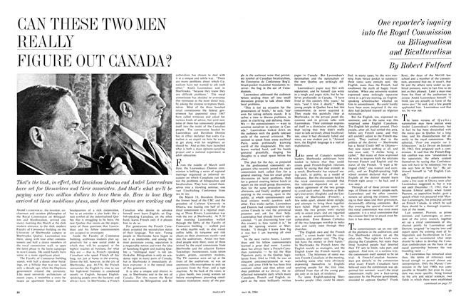 Article Preview: CAN THESE TWO MEN REALLY FIGURE OUT CANADA?, May 1964 | Maclean's
