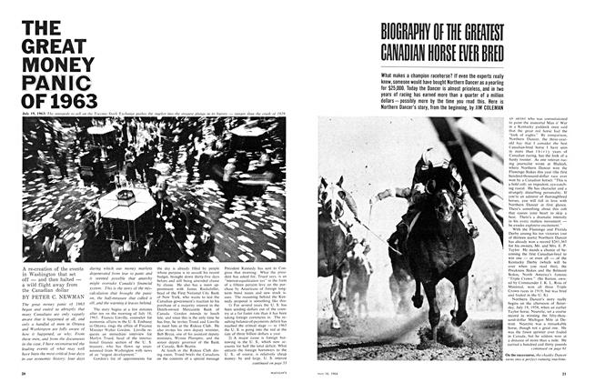 Article Preview: THE GREAT MONEY PANIC OF 1963, May 1964 | Maclean's