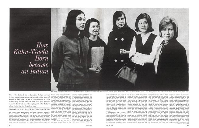 Article Preview: How Kahn-Tineta Horn became an Indian, May 1964 | Maclean's