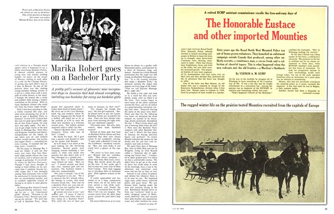 Article Preview: The Honorable Eustace and other imported Mounties, May 1964 | Maclean's