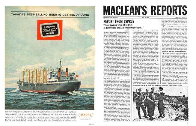 Article Preview: REPORT FROM CYPRUS, May 1964 | Maclean's