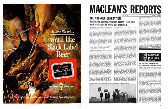 Article Preview: BACKSTAGE IN OTTAWA, June 1964 | Maclean's