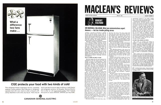 Article Preview: ON MARSHALL McLUHAN: What one communications expert discerns — but has trouble getting across, June 1964 | Maclean's