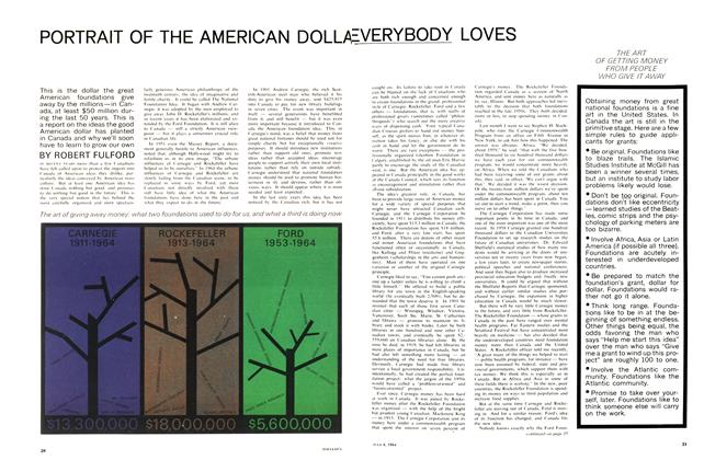 Article Preview: PORTRAIT OF THE AMERICAN DOLLAR EVERYBODY LOVES, July 1964 | Maclean's