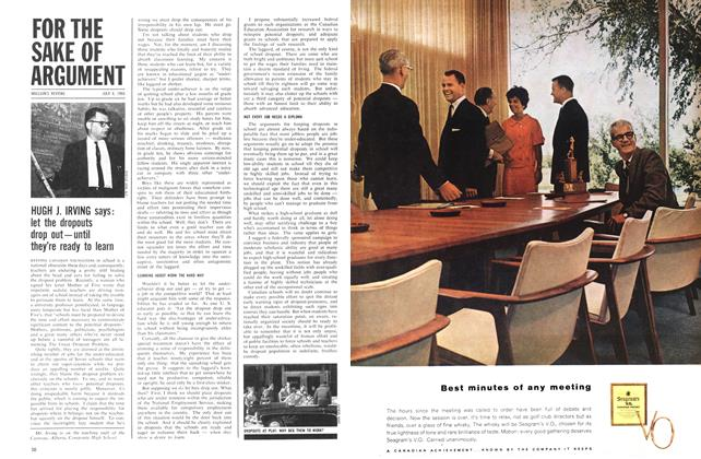Article Preview: HUGH J. IRVING says: let the dropouts drop out—until they're ready to learn, July 1964 | Maclean's