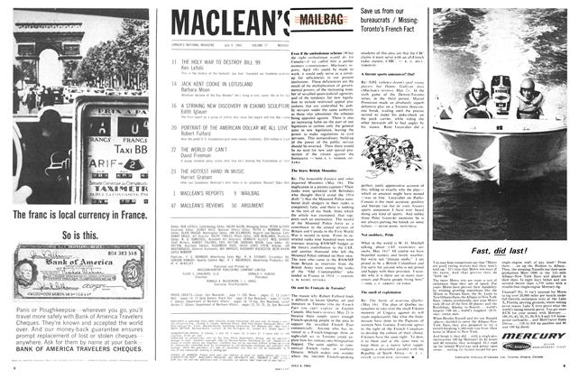 Article Preview: MAILBAG, July 1964 | Maclean's