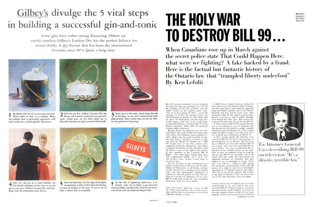 Article Preview: THE HOLY WAR TO DESTROY BILL 99..., July 1964 | Maclean's