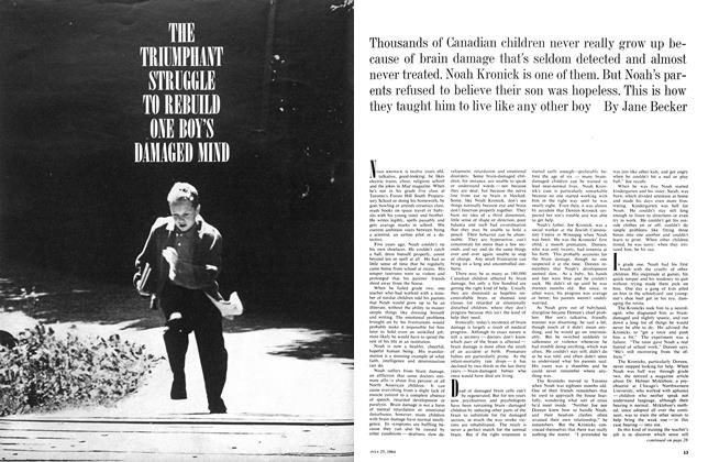 Article Preview: THE TRIUMPHANT STRUGGLE TO REBUILD ONE BOY'S DAMAGED MIND, July 1964 | Maclean's
