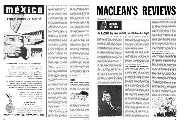 Article Preview: ON RACISM: the new, smooth, friendly breed of bigot, August 1964 | Maclean's
