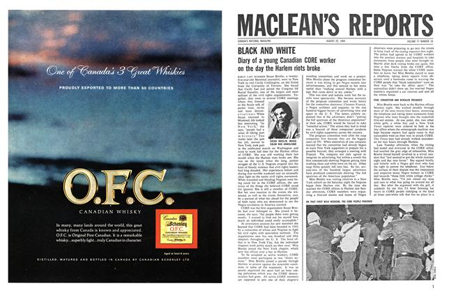 Article Preview: BLACK AND WHITE, August 1964 | Maclean's