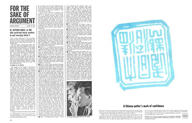 Article Preview: FOR THE SAKE OF ARGUMENT, August 1964 | Maclean's