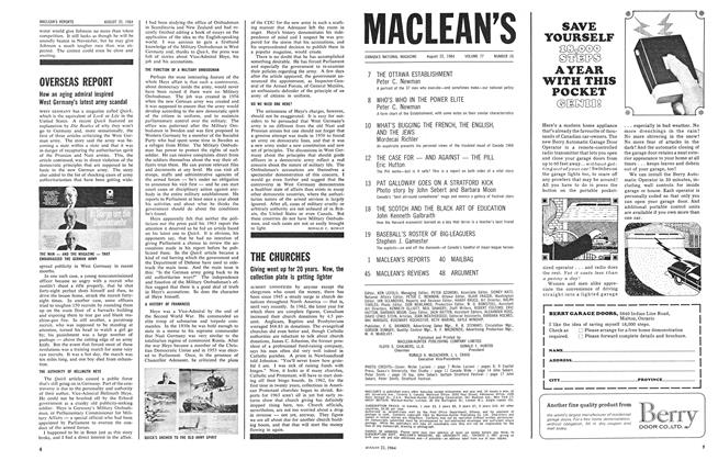 Article Preview: OVERSEAS REPORT, August 1964 | Maclean's