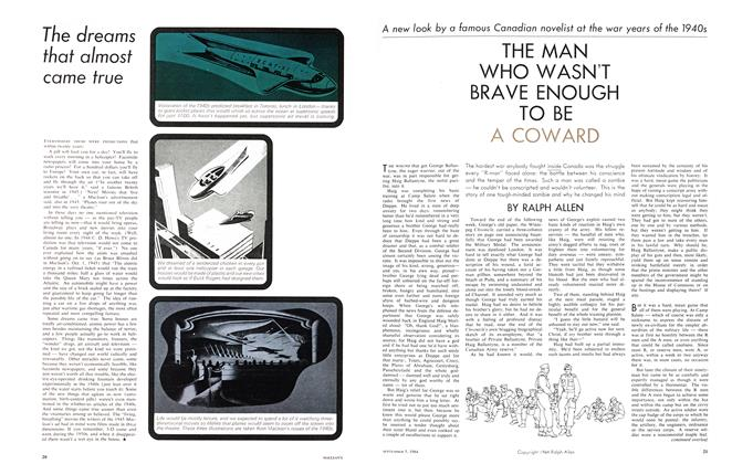 Article Preview: THE MAN WHO WASN'T BRAVE ENOUGH TO BE A COWARD, September 1964 | Maclean's