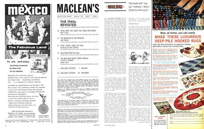 Article Preview: MAILBAG, September 1964 | Maclean's