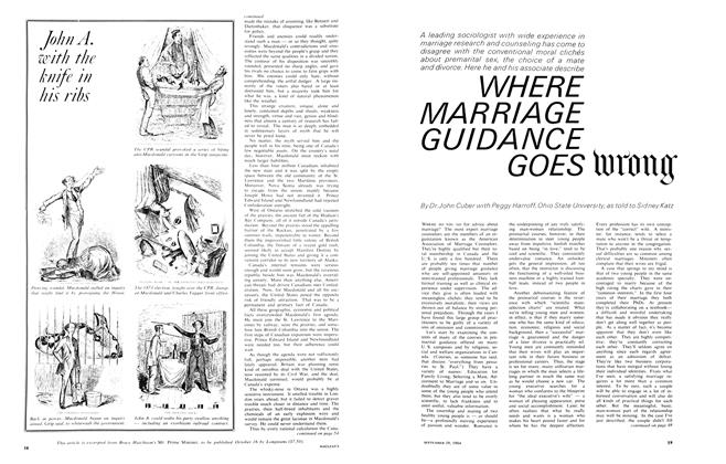 Article Preview: WHERE MARRIAGE GUIDA NCE GOES WRONG, September 1964 | Maclean's