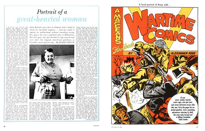 Article Preview: Portrait of a great-hearted woman, September 1964 | Maclean's