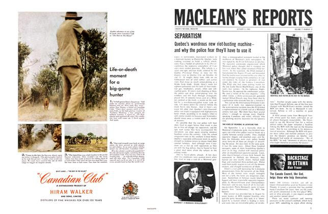 Article Preview: BACKSTAGE IN OTTAWA, October 1964 | Maclean's