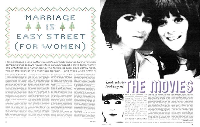 Article Preview: MARRIAGE IS EASY STREET (FOR WOMEN), October 1964 | Maclean's