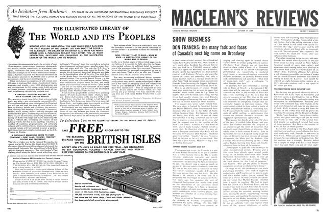 Article Preview: SHOW BUSINESS, October 1964 | Maclean's
