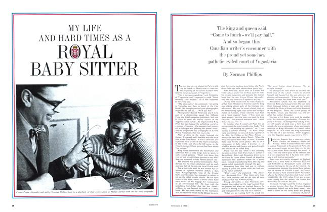 Article Preview: MY LIFE AND HARD TIMES AS A ROYAL BABY SITTER, November 1964 | Maclean's