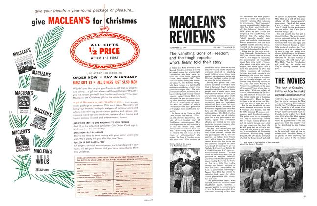 Article Preview: The luck of Crawley Films, or how to make a good Canadian movie, November 1964 | Maclean's