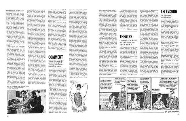 Article Preview: What this country needs is a good twenty-five-dollar maternity dress, November 1964 | Maclean's