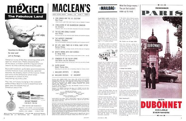 Article Preview: What the Ensign means The car that couldn't make up Its mind, November 1964 | Maclean's