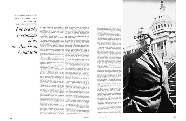 Article Preview: The cranky conclusions of an un-American Canadian, November 1964 | Maclean's