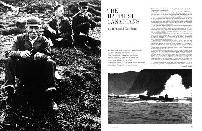 Article Preview: THE HAPPIEST CANADIANS, November 1964 | Maclean's