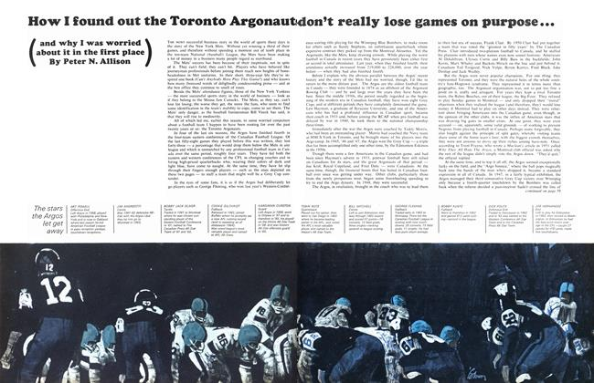 Article Preview: How I found out the Toronto Argonaut don't really lose games on purpose..., November 1964 | Maclean's