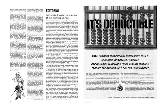Article Preview: EDITORIAL, November 1964 | Maclean's