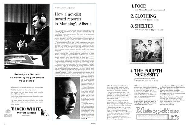 Article Preview: How a novelist turned reporter in Manning's Alberta, November 1964 | Maclean's
