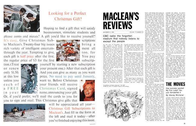 Article Preview: Has success spoiled My Fair Lady? No, just dampened it, December 1964 | Maclean's