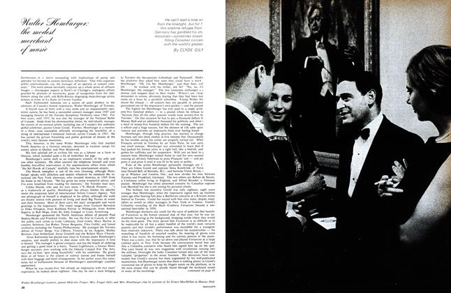 Article Preview: Walter Homburger: the modest merchant of music, December 1964 | Maclean's