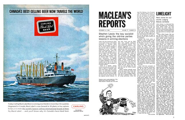 Article Preview: LIMELIGHT, December 1964 | Maclean's