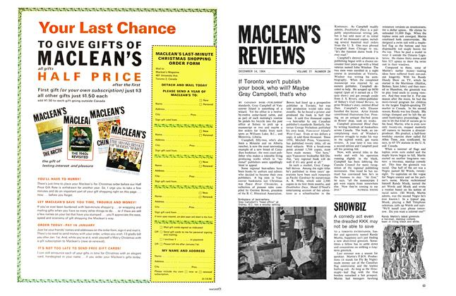 Article Preview: A comedy act even the dreaded KKK may not be able to save, December 1964 | Maclean's