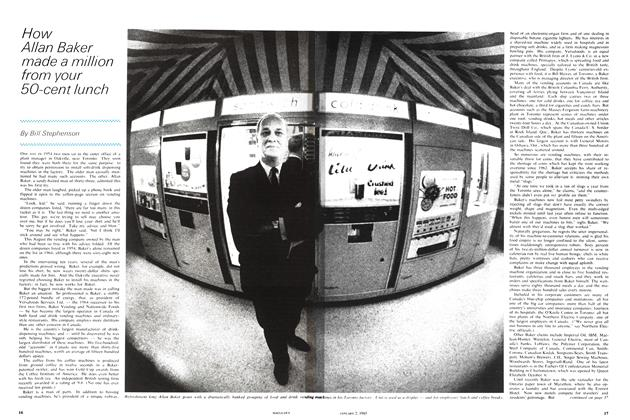Article Preview: How Allan Baker made a million from your 50-cent lunch, January 1965   Maclean's
