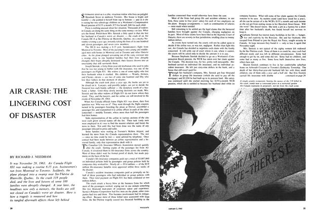 Article Preview: AIR CRASH: THE LINGERING COST OF DISASTER, January 1965 | Maclean's